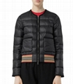 Bruntsfield Stripe-Hem Quilted Bomber