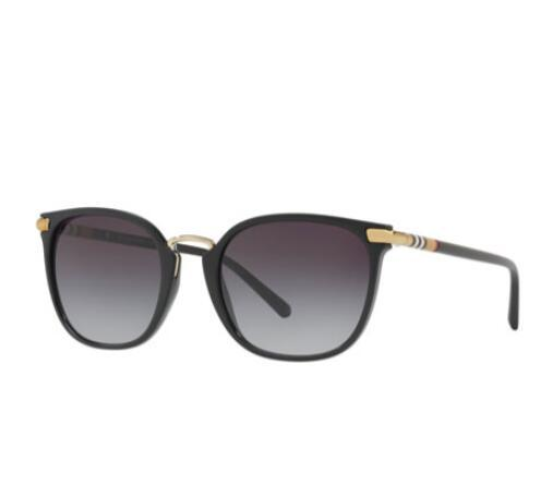 Burberry Check Temples Square Sunglasses fashion eyewears