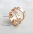 Cartier 18k rose gold 3 diamonds LOVE RING