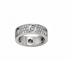 Cartier Love Ring Diamond Paved ring white gold Luxury Diamond ring