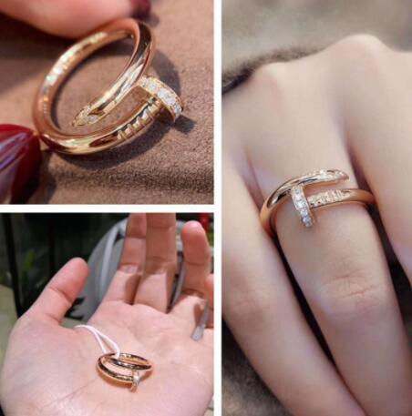 Cartier JUSTE UN CLOU RING PINK GOLD DIAMONDS Ring design cartier nail rings