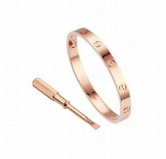 Cartier LOVE BRACELET PINK GOLD Unisex Leve bracelet