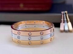 Cartier Love bracelet 10 diamonds bangle 18k cartier bracelet jewelry