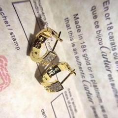 Cartier diamond paved Love Earrings luxury earring studs for women