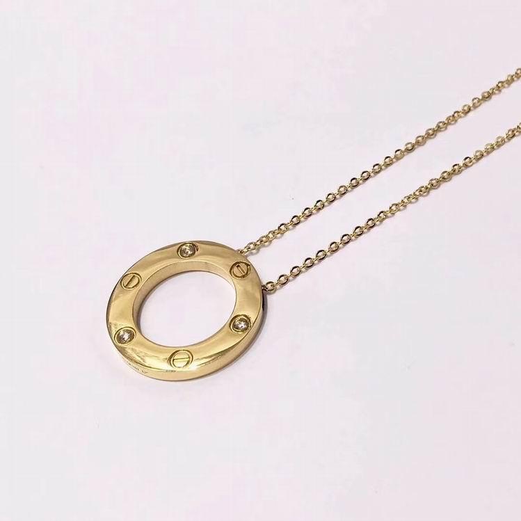 Cartier 3 Diamond LOVE Necklace