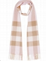 Burberry Half Mega Check Cashmere Scarf pink