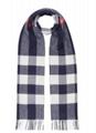 Burberry Men s Half Mega Check Cashmere Scarf blue