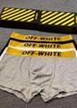Off-white logo Boxer Brief Trunks men off white cotton underwear