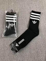 3-Stripes Cushioned Crew Socks Black white Men sport socks