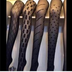 black logo Tights for women sexy leggings stockings