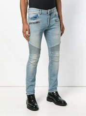 Balmain skinny biker jeans men zipped skin-tight jean blue (Hot Product - 1*)