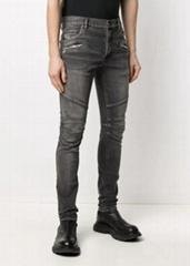 Balmain zip-detail denim jeans men cotton jeans on sale