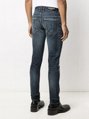 Balmain Monogram embroidered slim-fit denim jeans men fashion jeans