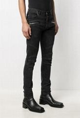 Balmain ribbed slim-fit Denim jeans men low-rise jeans