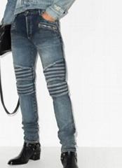 Balmain ribbed slim-fit jeans men biker jeans