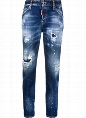 Dsquared2 turn-up distressed jeans men dsq jeans on sale