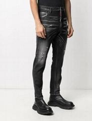 Dsquared2 stonewashed slim-fit jeans men cotton-blend slim cut jean black