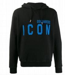 Dsquared2 Icon print hooded sweatshirt Men DSQ cotton hoodie
