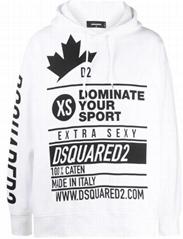 Dsquared2 oversized slogan print hoodie men multi-logo print hoody