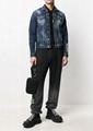 Dsquared2 faded denim jacket men classic long sleeves jean jacket