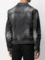 Dsquared2 ripped-detail denim jacket black
