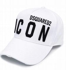 Dsquared2 Icon baseball cap white cheap Dsq adjustable hat on sale