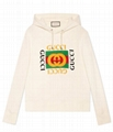 Gucci logo Print hooded sweatshirt men women cotton hoodie