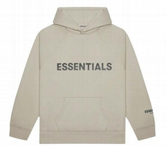FEAR OF GOD ESSENTIALS 3D Silicon Applique Pullover Hoodie String FOG Hoodie