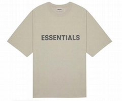 FEAR OF GOD ESSENTIALS 3D Silicon Applique Boxy T-Shirt String ESSENTIALS Logo T
