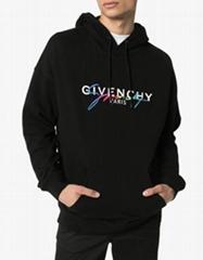 Givenchy rainbow logo cotton hoodie fashion men sweatshirts cheap hoodie