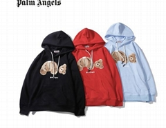 Palm Angels Teddy Bear hoodie men cotton hood sweatshirts