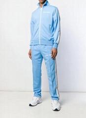 Palm Angels Men's Classic Track Jacket Baby Blue Men cotton Track Pants
