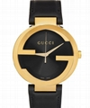 Gucci Black & Gold Interlocking G Watch