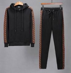 Black FF cotton Tracksuit       hoodie sweatshirt and pants