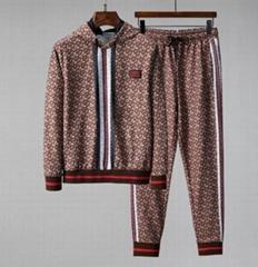 Monogram Stripe Print Cotton Jogging Pants and          hoodies men