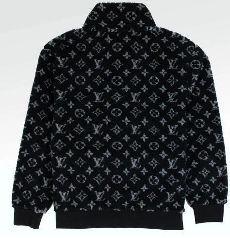 Louis Vuitton monogram jacquard fleece jacket