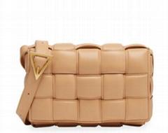 Padded Cassette Crossbody Bag Bottega quilted lamb leather bag