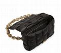 Bottega Veneta Cassette Chain Shoulder Bag BV intrecciato padded lambskin leathe