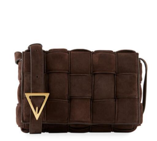 Bottega Veneta Cassette Padded Suede Crossbody Bag
