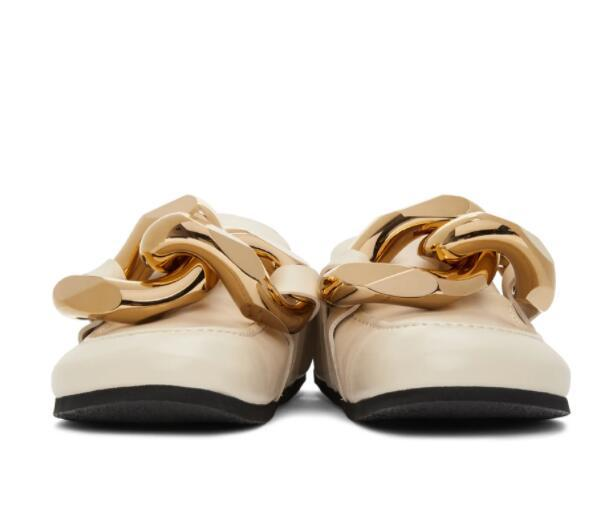 JW ANDERSON Embellished leather slippers