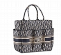 Dior Pockets Book Tote Blue Oblique Embroidery handbag