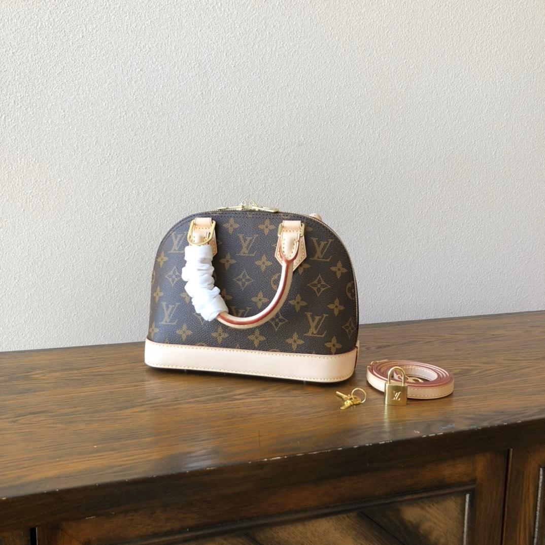 Louis Vuitton Alma BB Monogram Canvas Handbags