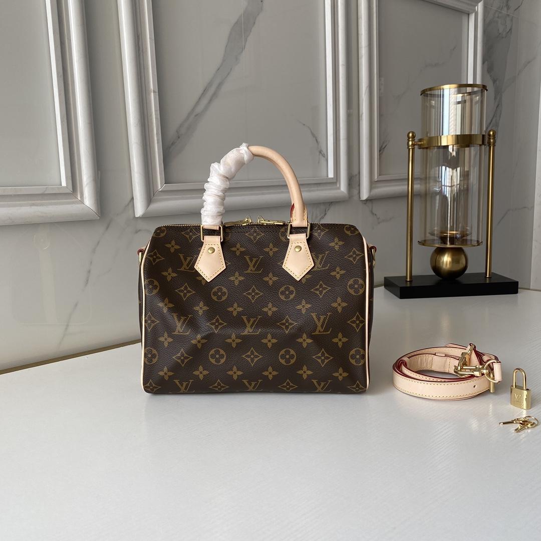 Louis Vuitton Speedy Bandouliere 25 Monogram Canvas Handbags LV small bags