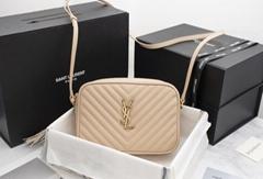 Saint Laurent Calfskin Matelasse Monogram Lou Camera Bag Nude Powder     bag (Hot Product - 1*)