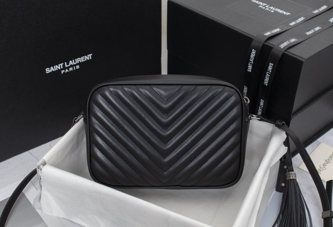 Saint Laurent Calfskin Matelasse Monogram Lou Camera Bag