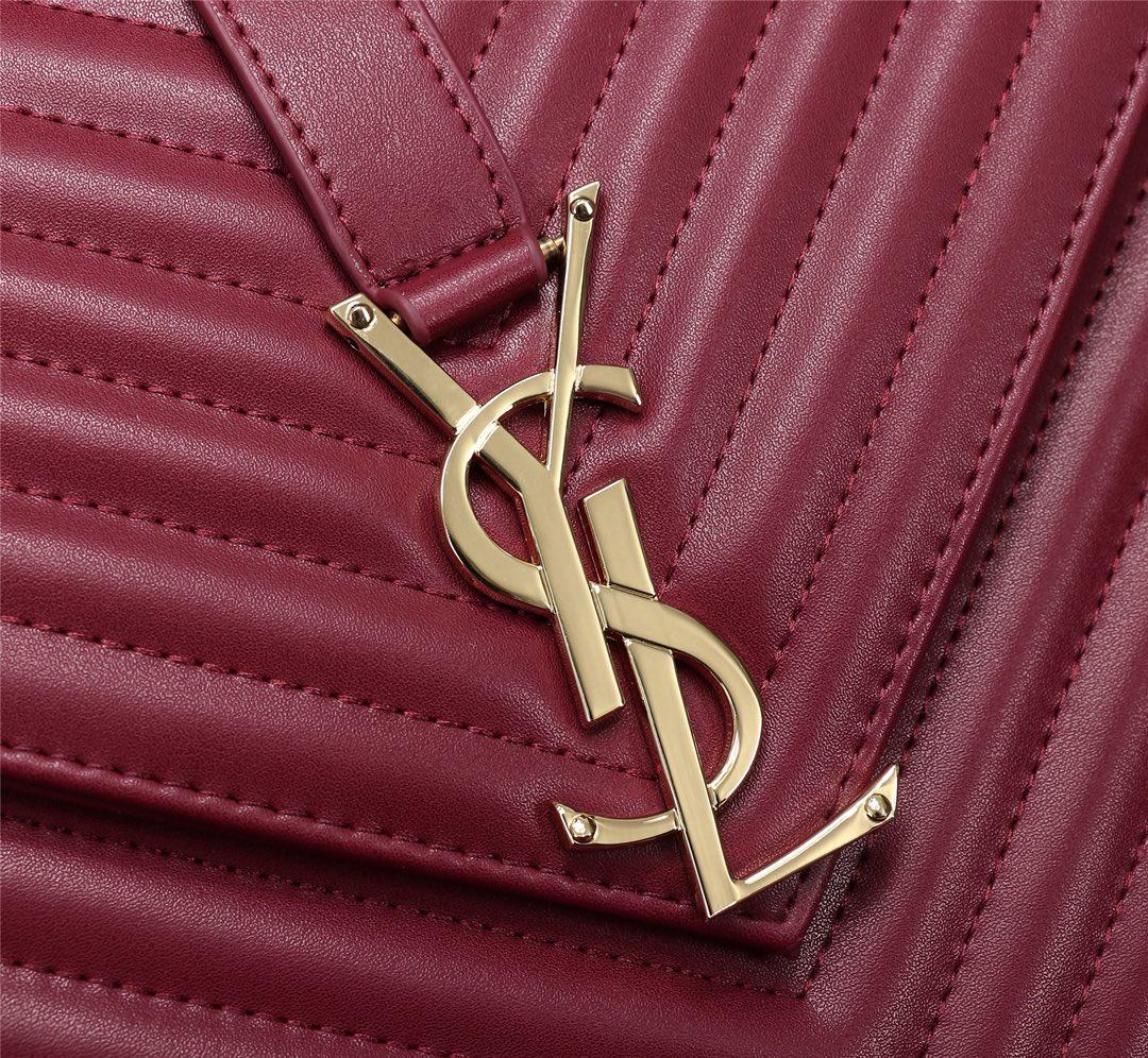 Saint Laurent V-Flap Large Monogram YSL Envelope Chain Shoulder Bag