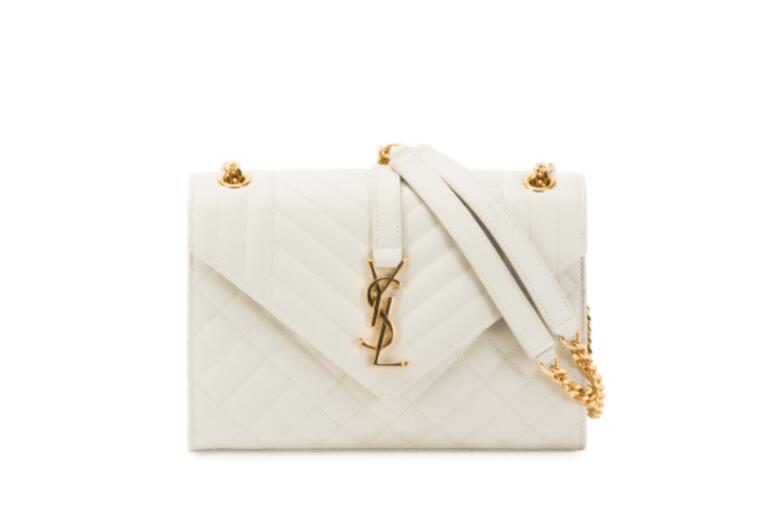 Saint Laurent Medium Tri-Quilted Matelasse Grain de Poudre Flap Shoulder Bag