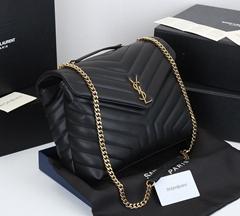 Saint Laurent Loulou Matelasse Calfskin Flap-Top Shoulder Bag     Y-quilted bag