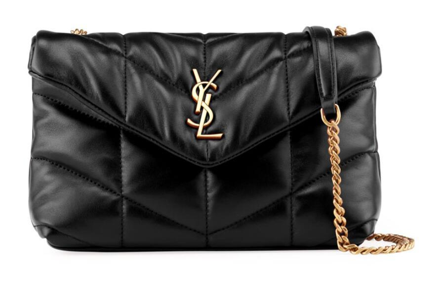 Saint Laurent LouLou Toy YSL Puffer Quilted Lambskin Crossbody Bag