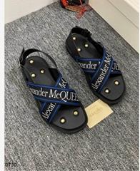 Alexander         Cross Strap Sandals Men black leather sandals